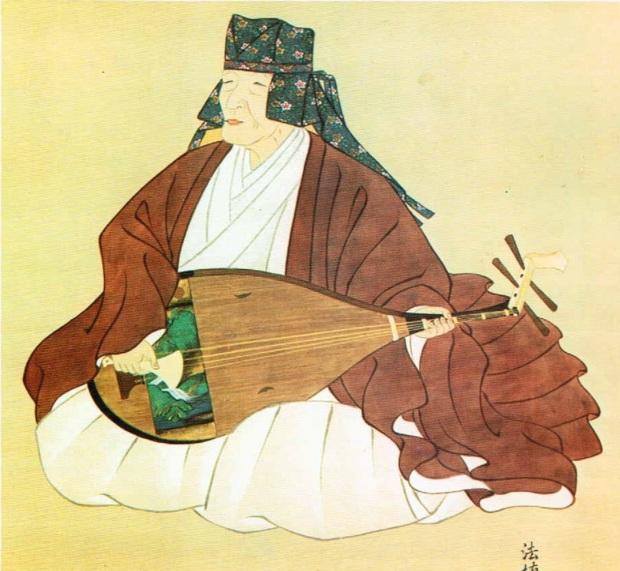 「平家物語」を語る琵琶法師