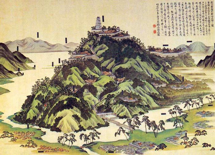 安土城、大坂城、江戸城