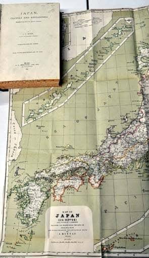 竹島、1880年製ドイツ地図に