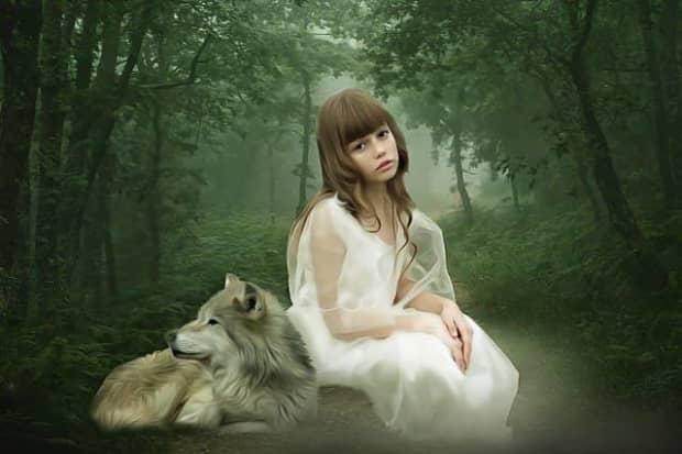 """狼に育てられた少女アマラとカマラ"""""""""""