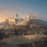 アクロポリスの再建とアテナのアレイオス・パゴス、レオ・フォン・クレンツェ画、1846年